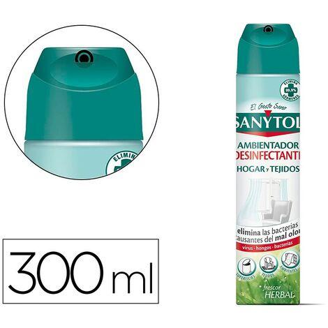 Ambientador sanytol desinfectante para hogar y tejidos spray bote de 300 ml