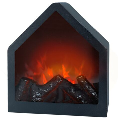 Ambients de cheminée électrique décorative à led minimaliste carré