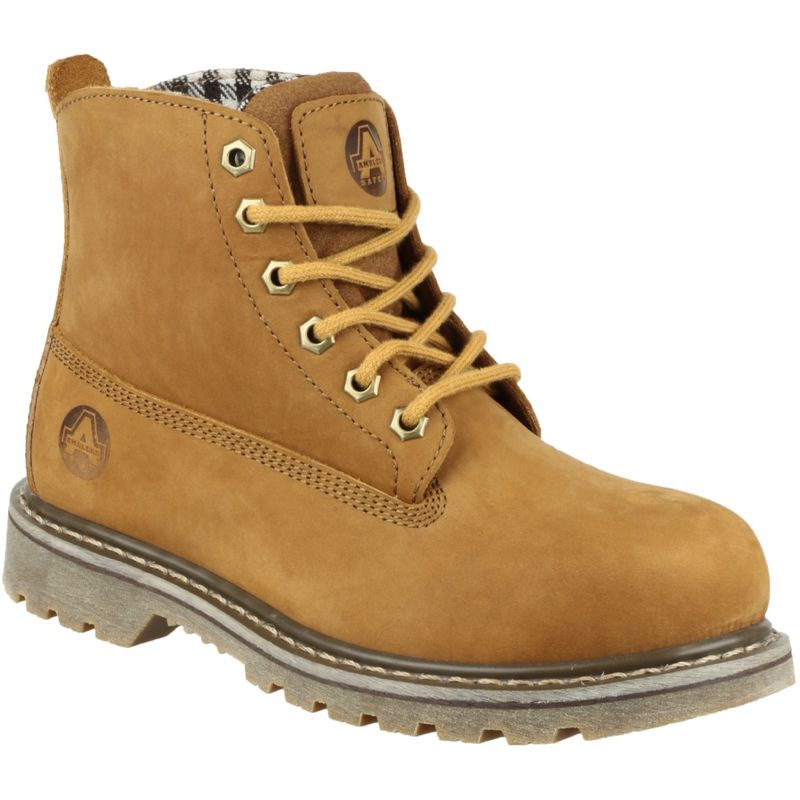 Image of Amblers FS103 Womens Safety Boots (3 UK) (Tobacco)