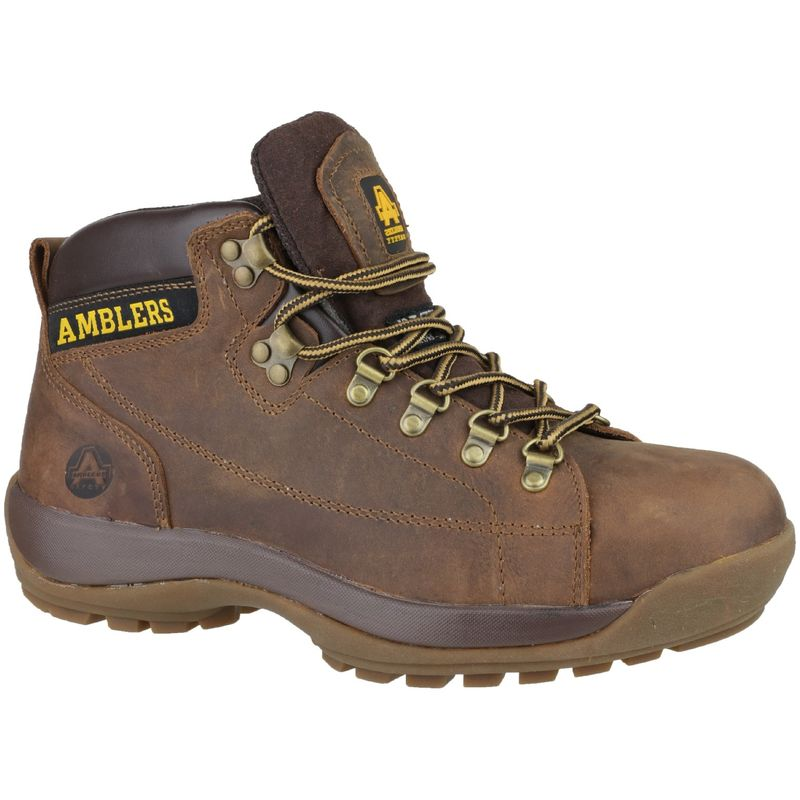 Image of Amblers FS126 Unisex Safety Boots (7 UK) (Brown)