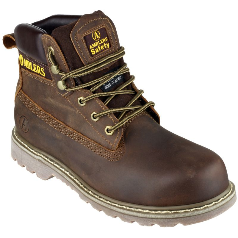 Image of Amblers FS164 Unisex Safety Boots (39 EUR) (Brown)