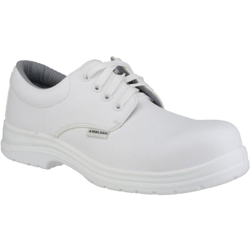 Image of Amblers FS511 White Unisex Safety Shoes (7 UK) (White)