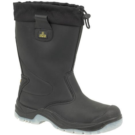 Amblers Steel FS209 Safety Pull On / Mens Boots / Riggers Safety