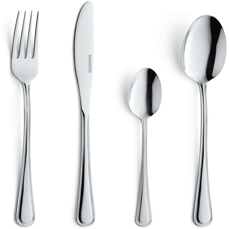 Image of 24 Piece Cutlery Set Bologna - Silver - Amefa