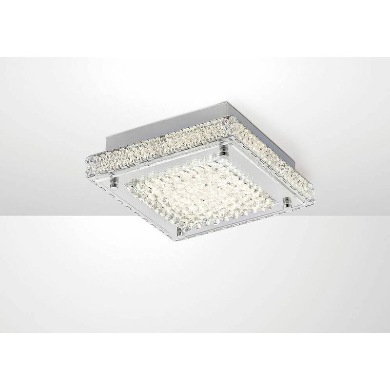 Image of Amelia Ceiling Light 12W 1200lm LED 4000K Stainless Steel / crystal