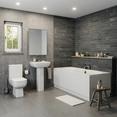 Amelie Bathroom Suite - Double Ended Bath
