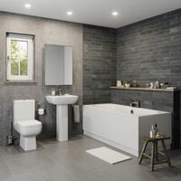 Amelie Bathroom Suite - Double Ended Bath