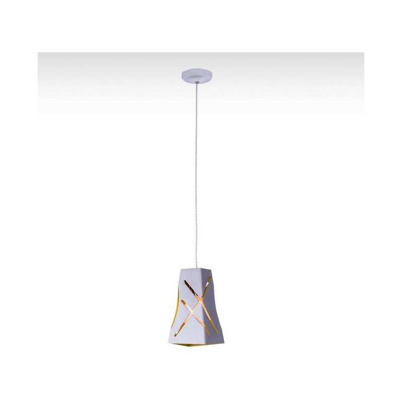 Homemania - Amelie Haengelampe - Kronleuchter - von Decke - Chrom aus Metall, 13 x 13 x 120 cm, 1 x E27, 40W