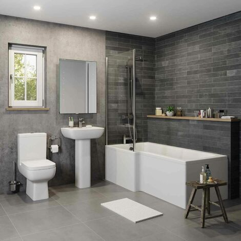 Amelie L Bathroom Suite with Left Hand Bath