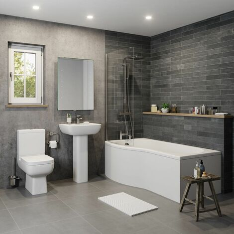 Amelie 'P' Bathroom Suite with Left Hand Bath