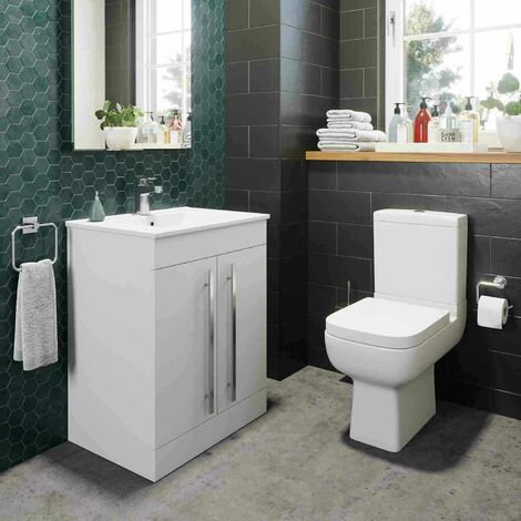 Amelie Toilet and 600mm Aurora Vanity Unit