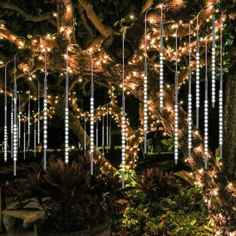Amélioré Guirlandes Lumineuse,10 Tubes 50CM 540LED Eclairage Météore Douche Lumière Etanche LED Pour Mariage Maison Arbre Jardin de Noël Parti (Blanc)
