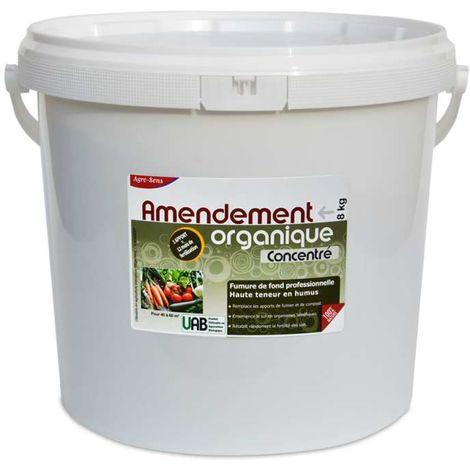 Amendement organique UAB. Formule concentrée en humus. 8 kg