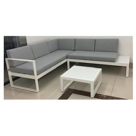 Amicasa Divano Angolo Venere Divano Angolo Venere Alluminio Bianco/Grigio