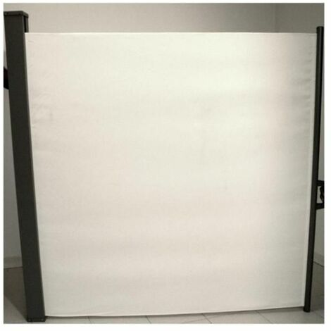 Amicasa Separe' Multiuso Avvolgibile L. 3 X H. 1,6 M Bianco - Grigio Scuro