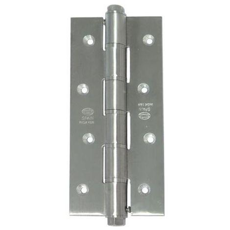 Mueble 50 mm x 50 mm aluminio rodamiento Bisagra negro 6 piezas