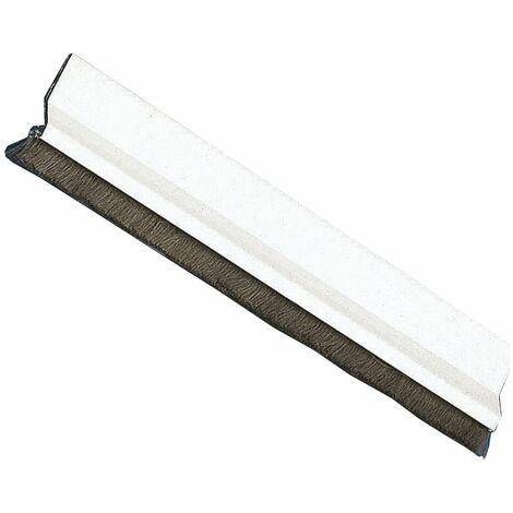 Amig Burlete Puerta Aluminio 2 Felpudo 1000 Blanco