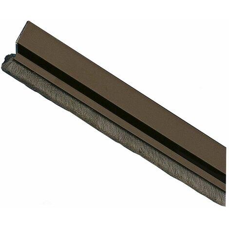 Amig Burlete Puerta Aluminio 2 Felpudo 1000 Bronce
