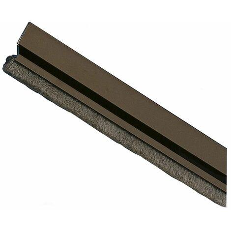 Amig Burlete Puerta Aluminio 2 Felpudo 1000 Negro