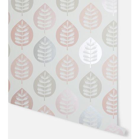 Amira Leaf Blush Wallpaper - Arthouse - 907401