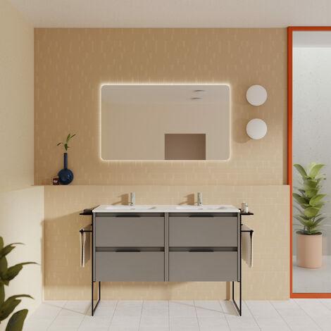 AMIZUVA KEIKO Mueble+Lavabo 2 Cajones Blanco Brillo