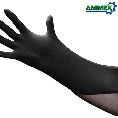 AMMEX, 100 piezas de guantes desechables, resistentes al acido de aceite,M
