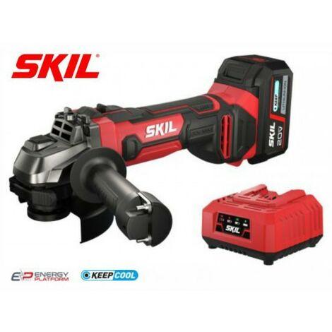 SKIL AG1E 3920AB Amoladora a batería (con 1 bateria 4Ah y cargador)