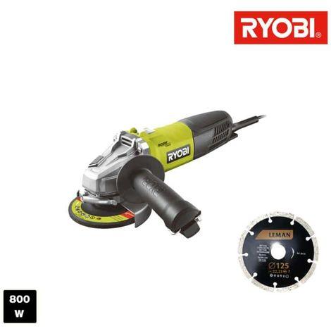 Amoladora angular RYOBI 800W 125mm RAG800-125GD1
