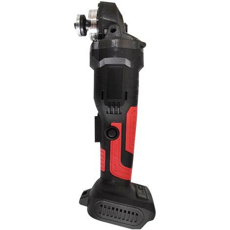 Amoladora angular sin escobillas con batería de litio de 11000 (RPM) Máquina pulidora Máquina cortadora y lijadora Amoladora angular - 800W 18v Tecnología de litio recargable (Negro rojo combinado, rojo negro)