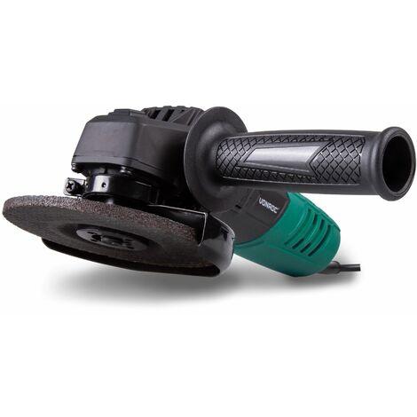 Amoladora angular VONROC , 125 mm , 650W, con accesorios y una bolsa para guardar la herramienta