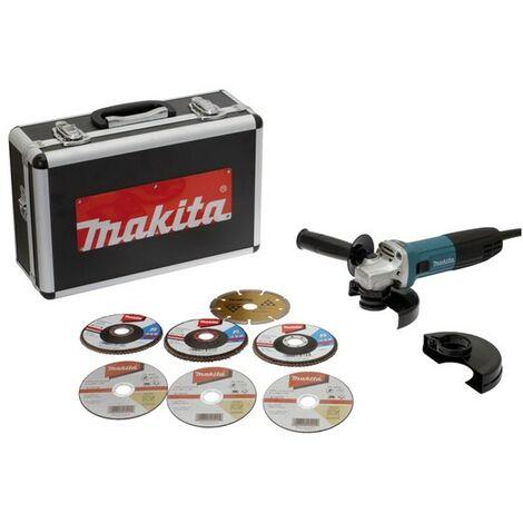 Amoladora MAKITA Ø125 mm 720W + 7 Discos, estuche - GA5030RSP6