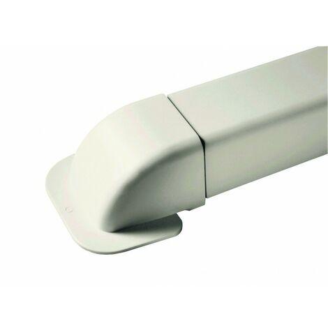 Amorces de mur - pour goulotte 140 mm - RAL9001