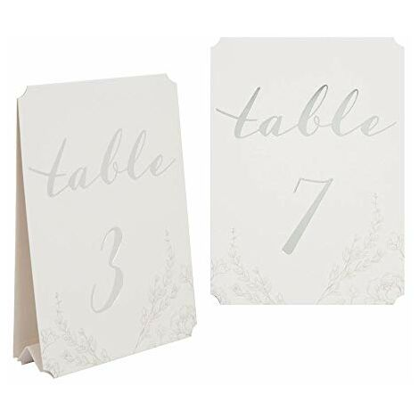 AMORE BY JULIANA? Pack of 12 Wedding Table Number Cards