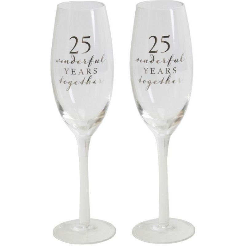 Image of AMORE BY JULIANA� Champagne Flute Set - 25th Anniversary