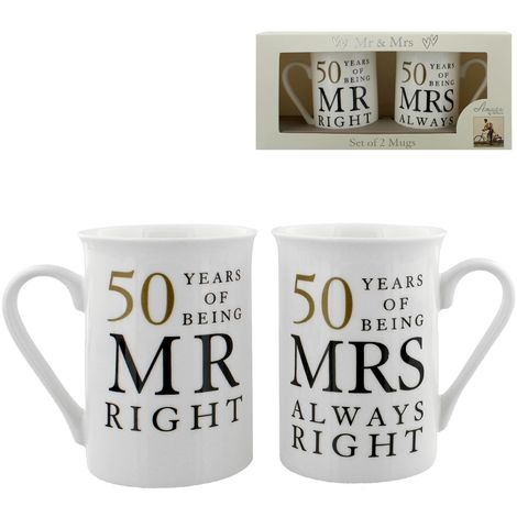 Amore Gift Set - 50 Years Of Mr Right/Mrs Always Right