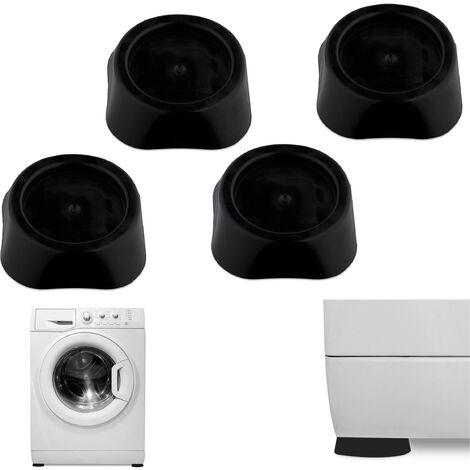 Amortiguadores de vibración, Topes de Lavadora & Secadora, Set de cuatro tacos, Antideslizantes, Negro