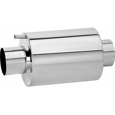 Amortisseur de bruit d'echappement inox, Type AGS 500/150 Longueur 720mm, raccord 150 mm