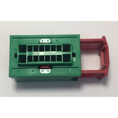 Amp 185760-2 Connector automotive 16W HYBRID RCPT HSG - green