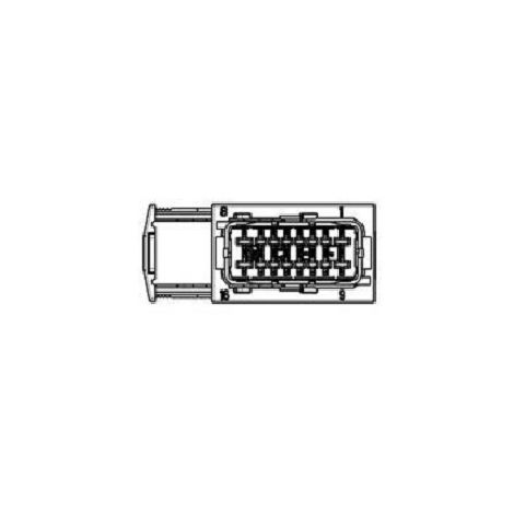 Amp 185760-6 Connector automotive 16 pos. HYBRID RCPT HSG - red/grey