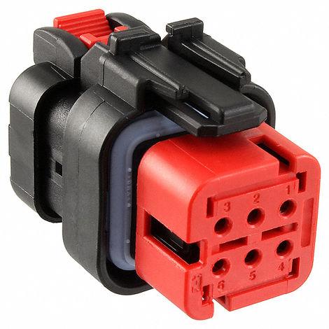 Amp 776531-1 Automotive conectores enchufables CONJUNTO 6P 20-18AWG - Rojo