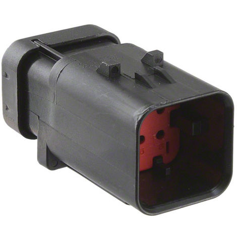 Amp 776537-1 Connector automotive RECPT 6P 20-18AWG - red