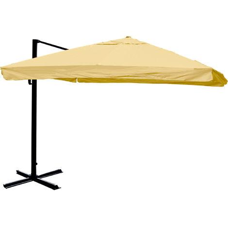 Ampelschirm HHG-189, Sonnenschirm Gastronomie 3x3m (Ø4,24m) Polyester/Alu 23kg
