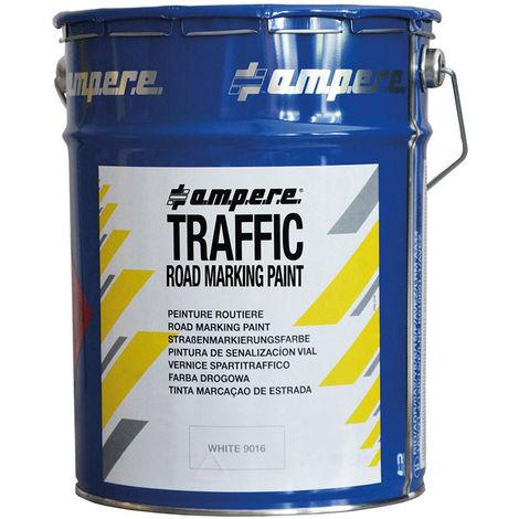 A.M.P.E.R.E Straßenmarkierungsfarbe Traffic Paint 5kg weiß