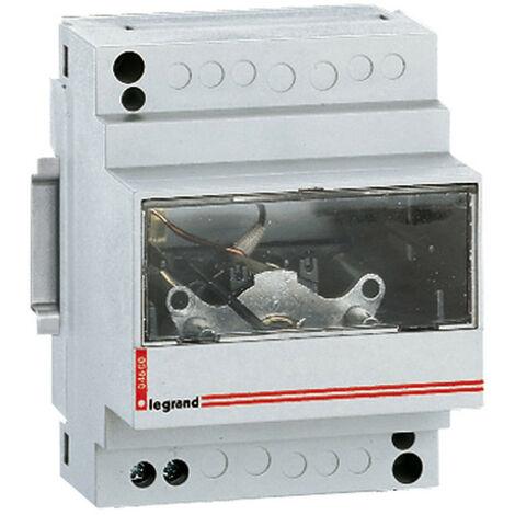 Ampèremètre analogique modulaire branchement via transformateur de courant sortie 0A à 5A 4 modules (004600)