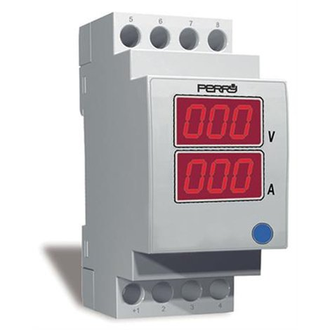 Ampèremètre et voltmètre pour mesures en courant alternatif 2 DIN - Perry