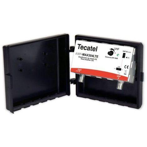 Amplificador de mastil con ganancia 30dB 1e UHF exterior Negro