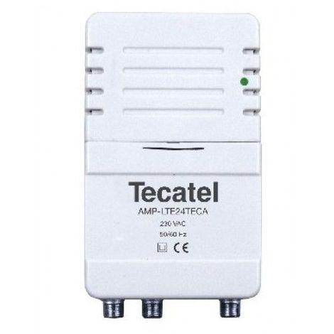 Amplificador de vivienda UHF LTE 700 5G con 2 salidas Blanco