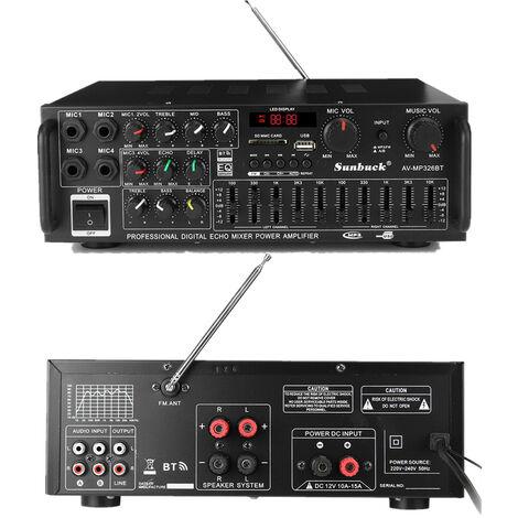 Amplificador digital estéreo de cine en casa con Bluetooth EQ 800W 4 ohmios