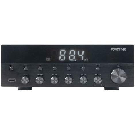 Amplificador Estéreo Bluetooth, USB/MP3, Radio FM, Hifi 15+15w RMS de potencia Fonestar As-1515