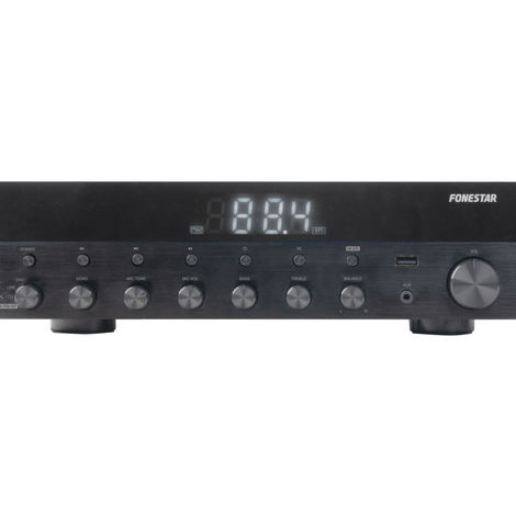 Amplificador Estéreo Bluetooth, USB/MP3, Radio FM, Hifi 60+60 RMS de potencia Fonestar As-6060
